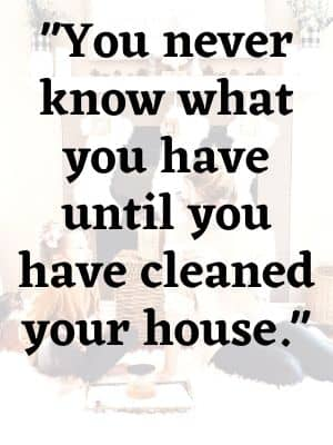 You never know what you have until you have cleaned your house.