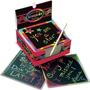 For the one who likes to doodle Scratch Art Mini Notes