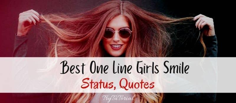 Best One Line Girls Smile Status, Insta, Whatsapp