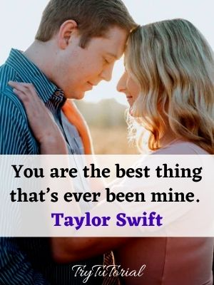 You are the best love quotes