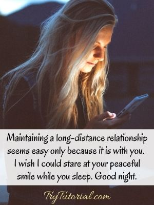 Good Night Quotes For Her Long Distance