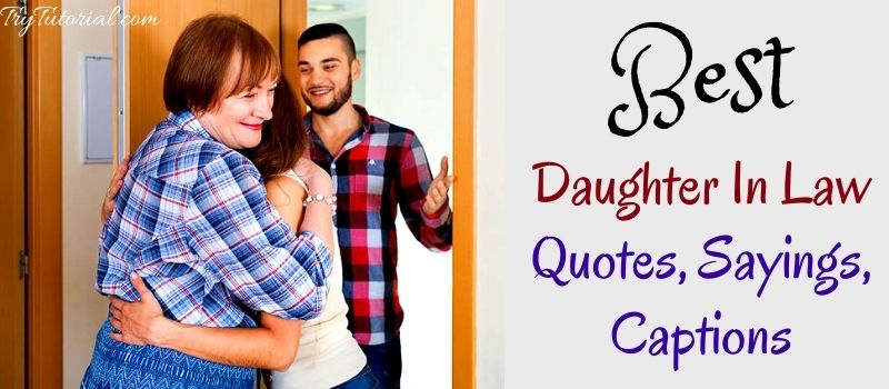 Best Daughter In Law Quotes, Sayings, Captions