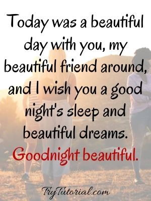 Darling Good Night Quotes For Friends