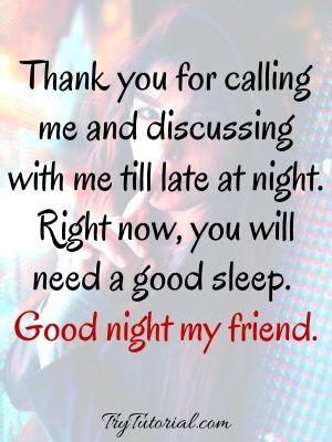Good Night Sleep Text For Friends