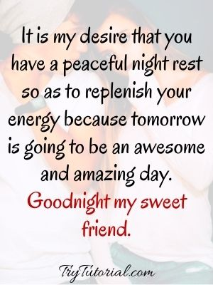 Good Night Text For Darling friends