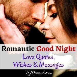 Romantic Good Night Love Quotes