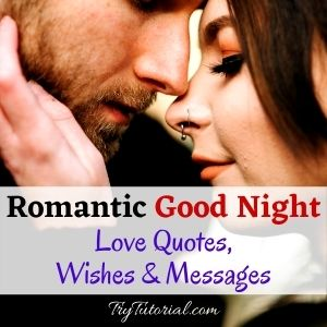 Romantic Good Night Love Quotes