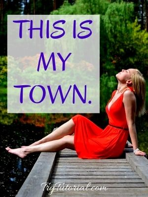 Sexy Town Girl Caption