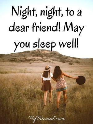Short Good Night Wish For Friend
