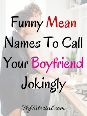Funny Mean Names To Call Your Boyfriend Jokingly