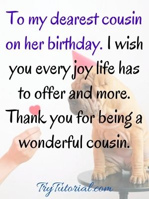 Happy birthday special cousin images