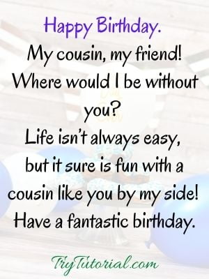 Instagram birthday wishes for cousin brother