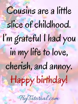 Male cousin birthday wishes images