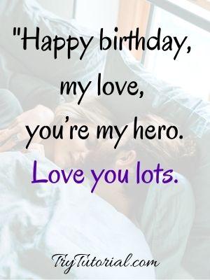 One Line Caption For Boyfriend Birthday