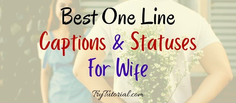 One Line Caption For Wife