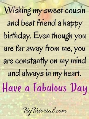 birthday wishes for cousin female images