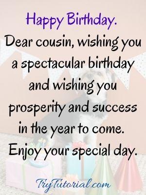 cousin happy birthday images