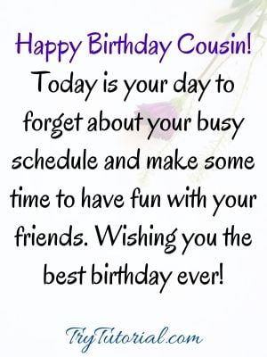 Cousin images for birthday