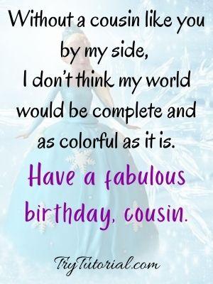 female happy birthday cousin