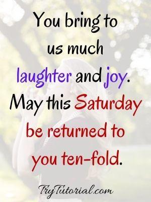 Beautiful Saturday Blessings