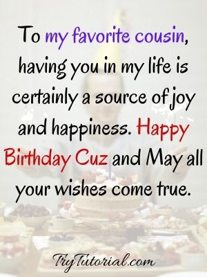 Best Happy Birthday Wish For Cousins Images