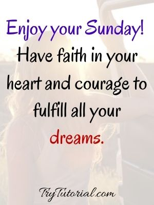 Best Sunday Blessings Morning Quotes
