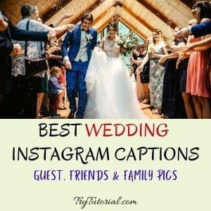 Best Wedding Instagram Captions