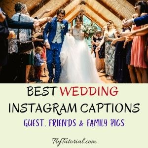 Best Wedding Instagram Captions