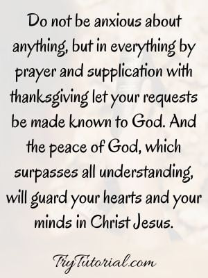 Bible Verse About Worry And Stress
