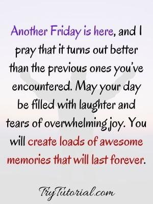 Blessings For Good Morning Friday