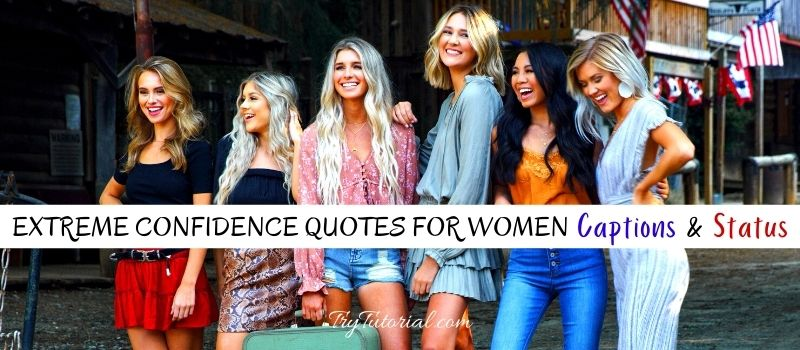 Confidence Quotes For Women