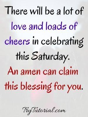 Encouraging Saturday Blessings