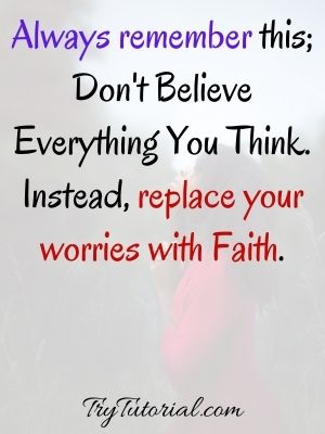 Faith Over Worry Quotes