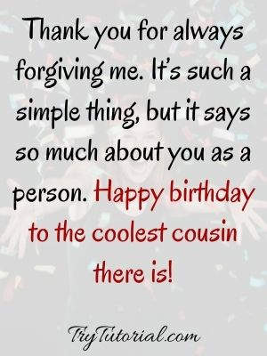 Cousin Birthday Messages For Birthday Card