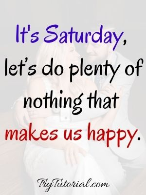 Funny Happy Saturday Blessings