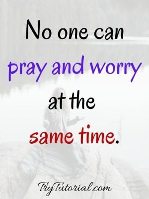 God And Worry Images