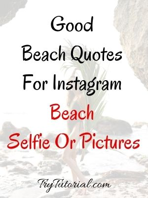 Good Beach Quotes For Beach Selfie Or Pictures