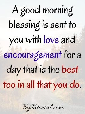 Good Morning Blessing With Love