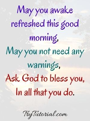 Good Morning God Bless You Quotes