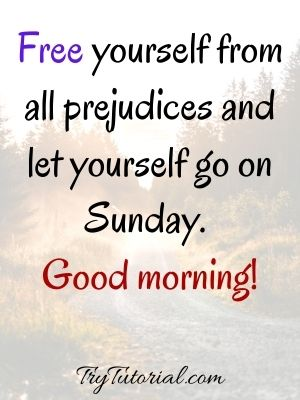 Good Morning Sunday Quotes On Self Care