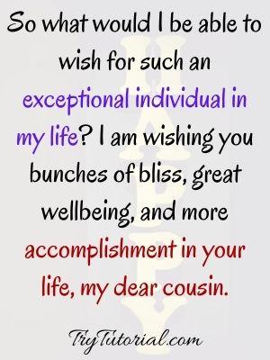 Great Happy Birthday Wish For Cousin Images