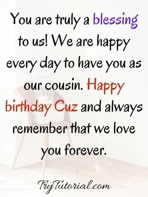 85 Awesome Happy Birthday Cousin Quotes & Captions [currentyear] 1