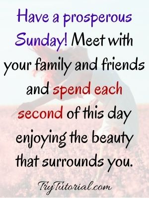 60 Beautiful Happy Sunday Quotes And Sayings: Blessings/Wishes [currentyear] 2