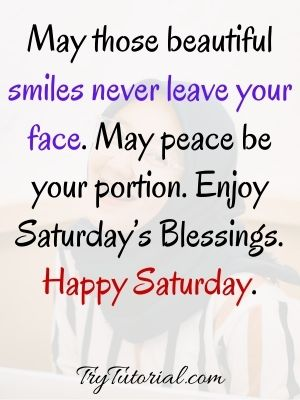 Inspirational Good Morning Saturday Blessings Image