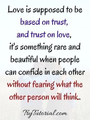 Love And Trust Quotes For Him & Her