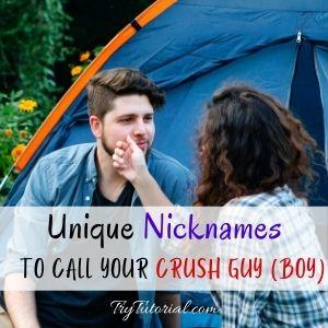 Names To Call Your Crush boyq