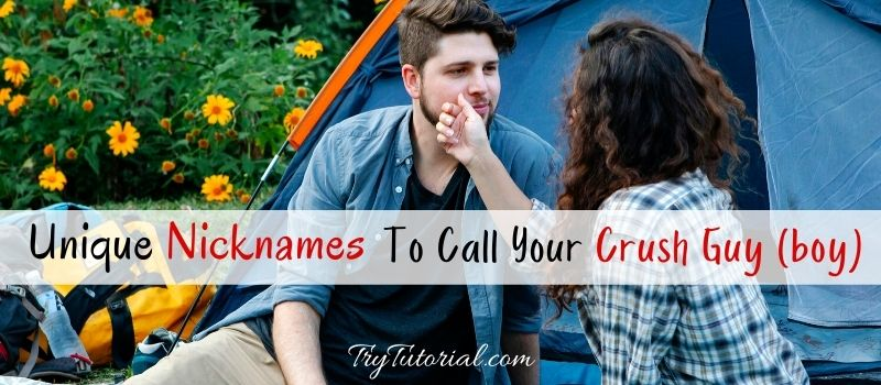 Nick Names To Call Your Crush Guy (boy)