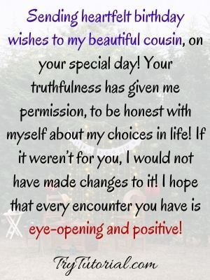 Birthday Quotes For Female Cousin Image Status