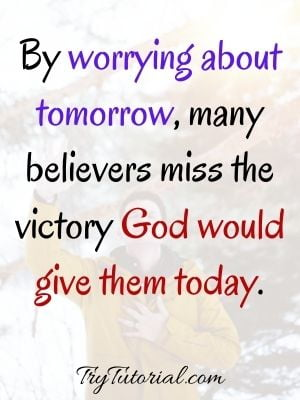 Quotes About God And Worry