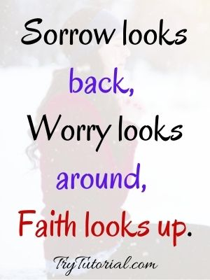 Quotes On Faith Over Worry  Images